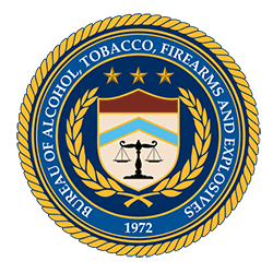 Bureau of Alcohol Tobacco Firearms and Explosives logo