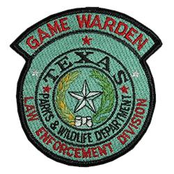 Texas Parks and Wildlife Law Enforcement emblem patch